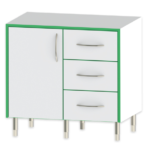 Sealwise Double Cupboard & Drawer Unit