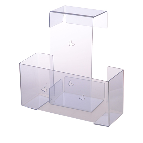 Clear Plastic Glove Box Holder - Single