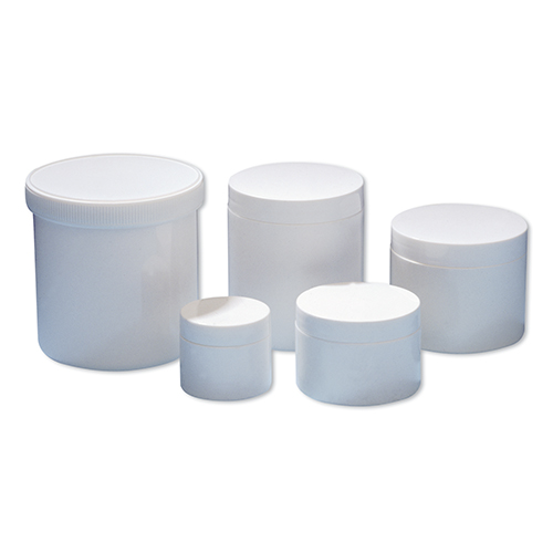 White Plastic Ointment Jars