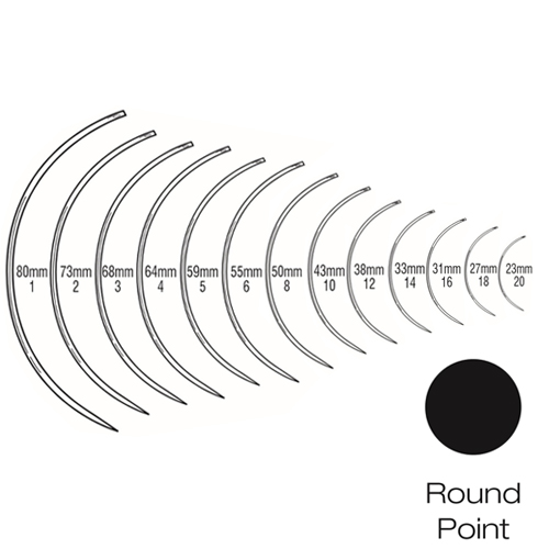 Suture Needles - Regular Curved (3/8 Circle) Round Bodied