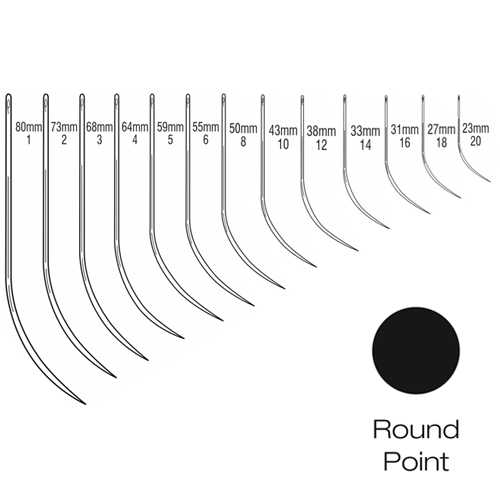 Suture Needles - Half Curved Round Bodied