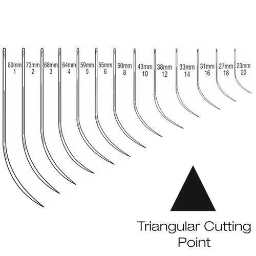 Suture Needles - Half Curved Triangular Cutting