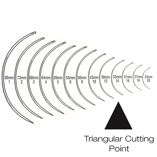 Suture Needles - Regular Curved (3/8 Circle) Triangular Cutting Point