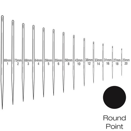 Suture Needles - Straight Round Bodied