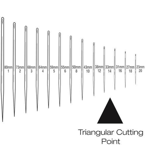 Suture Needles - Straight Triangular Cutting
